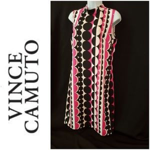 Vince Camuto  60's Inspired  Dress  Sz Med